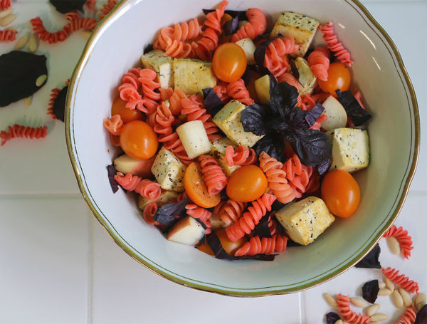 Bunter Pasta-Salat