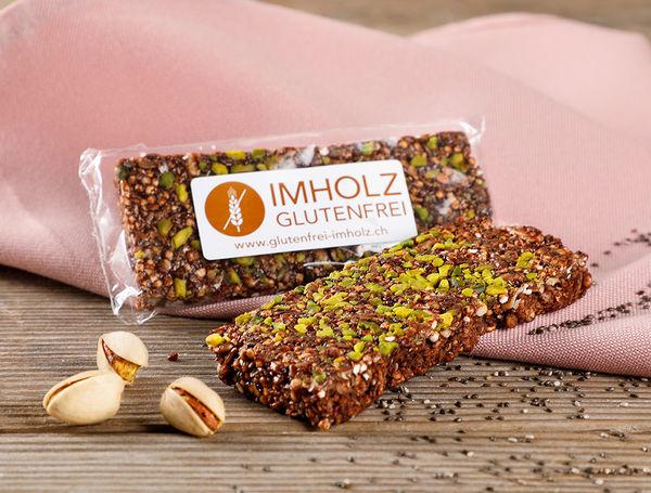 Image of Kakao-Pistazie Riegel glutenfrei, 40g