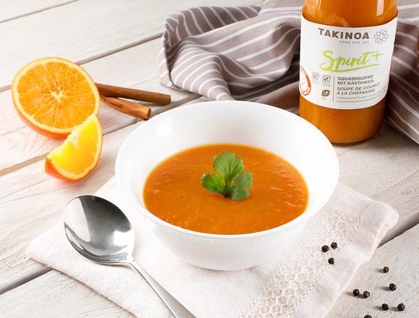 Kürbissuppe mit Bio Orange und Zimt, 5dl von Takinoa bei Farmy.ch online einkaufen.
