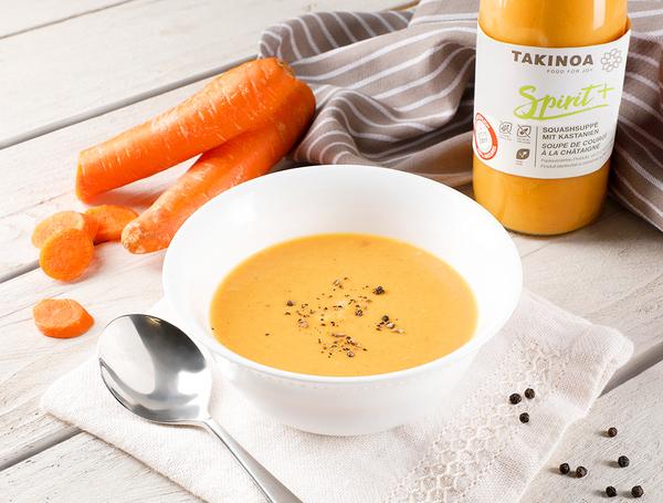 Bio Karottensuppe mit Honig und Ingwer, 5dl von Takinoa bei Farmy.ch online einkaufen.