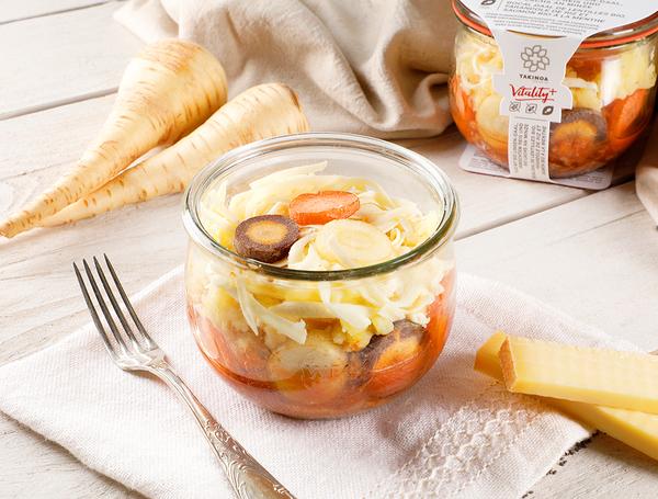 Bio Rindshackauflauf mit Kartoffelstock, 360g von Takinoa bei Farmy.ch online einkaufen.