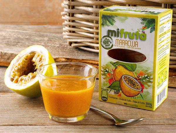 MiFruta Fruchtpüree Maracuja, 300g von luloplus bei Farmy.ch online einkaufen.