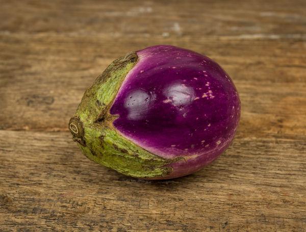 Image of Aubergine violette rund