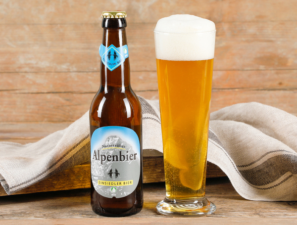 Bio Einsiedler Alpenbier Naturtrüb, 33cl von Brauerei Rosengarten bei Farmy.ch online einkaufen.