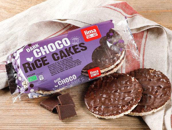Image of Bio Reiswaffeln mit dunkler Schokolade, 100g