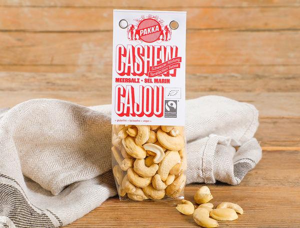 Image of Bio Cashew geröstet mit Meersalz Fairtrade, 100g