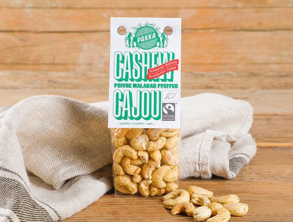 Image of Bio Cashew geröstet mit Malabar Pfeffer Fairtrade, 100g