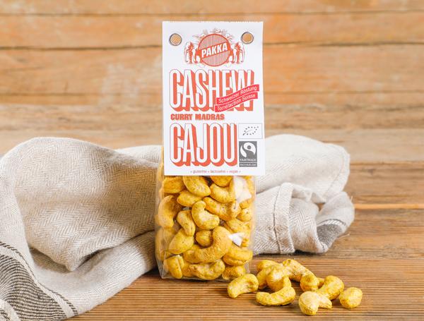 Image of Bio Cashew geröstet mit Curry Madras Fairtrade, 100g