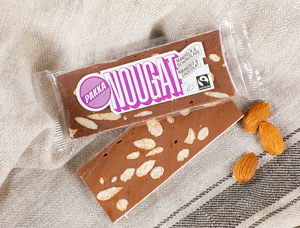 Image of Bio Nougat Riegel Mandeln & Schoggi Fairtrade, 45g