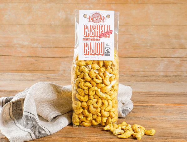 Image of Bio Cashew geröstet mit Curry Madras Fairtrade, 450g