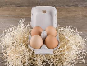 Eier, Demeter, 4 Stück