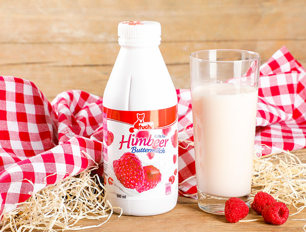 Image of Buttermilch Himbeer, 0.3% Fett, 500ml