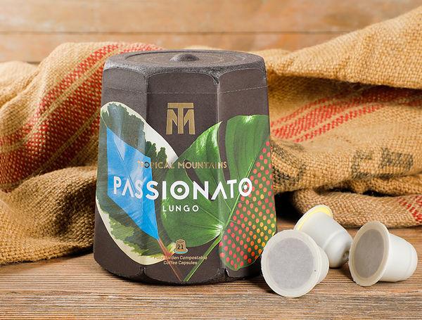 "Image of Bio Kaffee-Kapseln Lungo ""Passionato"", kompostierbar, 21 Kapseln"