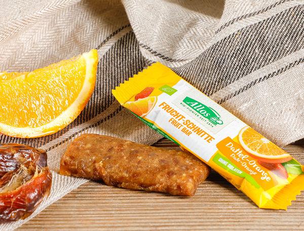 Image of Bio Fruchtschnitte Dattel-Orange, 30g