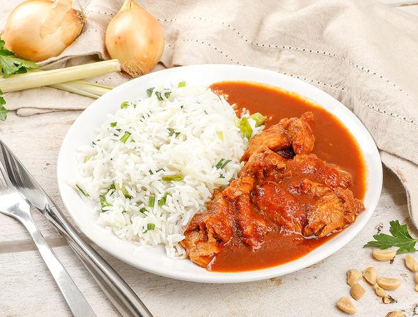Image of Veganes Ayam Bakar mit planted.chicken und Reis, 420g