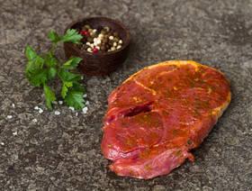 Bio Lamm-Gigot Steak, mariniert, 165g