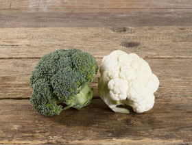 Twin Blumenkohl / Broccoli, ca. 300g