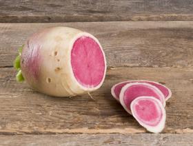 Bio Rettich Red Meat, grün-pink, ca. 220g