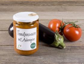 Bio Schweizer Tomaten-Sauce mit Auberginen, 390ml