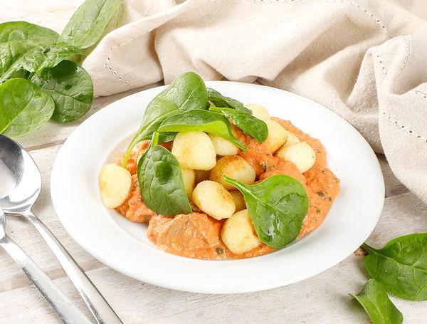 Image of Kartoffel Gnocchi mit Tomaten-Pilz Rahmsauce, 470g