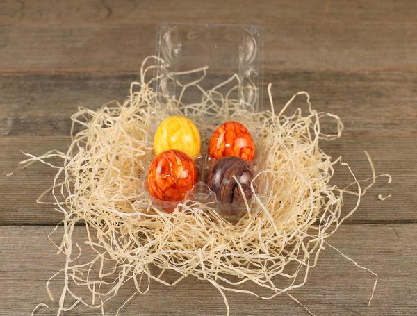 Image of Bio Eier gekocht und gefärbt, 4 Stück