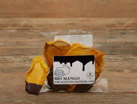 Bio Mango getrocknet mit dunkler Schoggi, 45g
