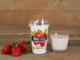 Bio Lassi Erdbeere HimbeereLactosefrei, 230ml